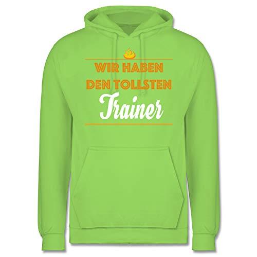 Sonstige Sportarten - Wir haben den tollsten Trainer - S - Limonengrün - JH001 - Herren Hoodie