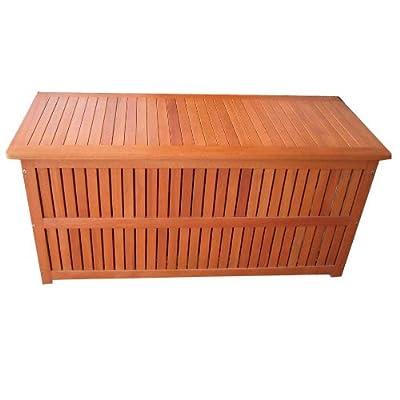 Auflagenbox Plano Holzkiste für Gartenauflagen Auflagenkiste aus Eukalyptus mit Folieninnentasche