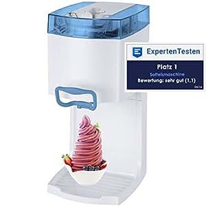 Gino Gelati GG-50W-A Blue 4in1 Softeismaschine, Eismaschine, Frozen Yogurt-Milchshake Maschine, Flaschenkühler