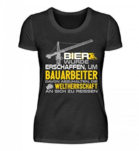 Bier für gemacht Organic Bau wurde Damen Hochwertiges Shirt Bauarbeiter Schwarz IxTgnw