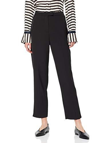 Tab-front Hose (Miss Selfridge Damen Black Tab Front Cigarette Hose, schwarz 130, 36 (Herstellergröße: 10))
