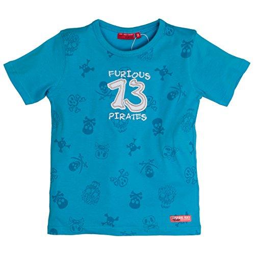 SALT AND PEPPER Jungen T-Shirt Shark Bay Allover, Blau (Pacific Blue 462),...