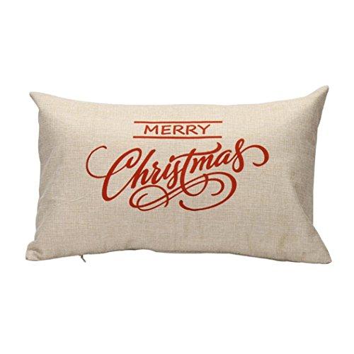 Ikat Kissen-abdeckung (ZARU Weihnachtskissen-Kasten-Sofa-Taillen-Wurf-Kissen-Abdeckungs-Ausgangsdekor (B))