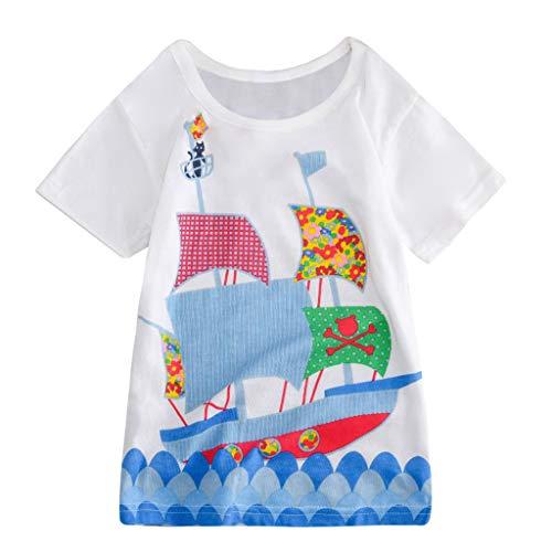 JUTOO Kleinkind Kinder Baby Jungen mädchen Kleidung Kurzarm niedlichen Cartoon Tops t-Shirt Bluse - Niedlichen Baby Monster Kostüm
