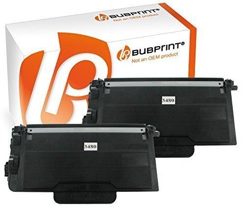 Bubprint 2 Toner kompatibel für Brother TN-3480 TN 3480 für DCP L5500DN L6600DW HL-L 5100DNT HL-L 6300 DW MFC L5700DN L5750DW L6800DWT L6900DW Schwarz -
