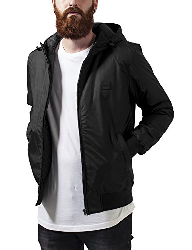Urban Classics TB1458 Herren Jacke Padded Windbreaker, Gr. Medium, Schwarz (black 7)