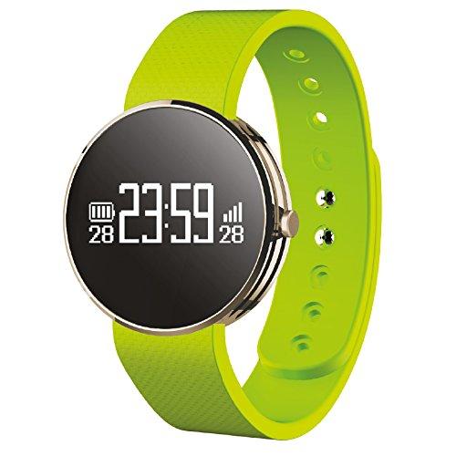 Leotec Pulsera de actividad Fitwatch -  Pulsera de actividad, monitor de actividad,Sensor rayos UV y notificaciones inteligentes, color Negro