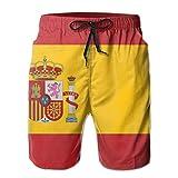 Ye Hua Bandera de España Hombre 3D Impreso Divertido Bañador Bañadores Secado rápido Ropa de Playa Deportes Correr Bañador Shorts Forro de Malla