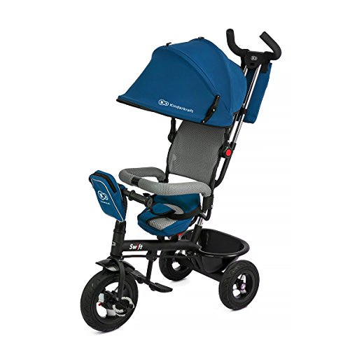 KINDERKRAFT Kinderkaft Swift 6en 1Tricycle pour Enfants avec Accessoires dans 2Couleurs Bleu