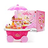 leenBonnie Kids Pretend Gioca a Toy Music Lighting Ice-Cream Trolley Set per Bambine