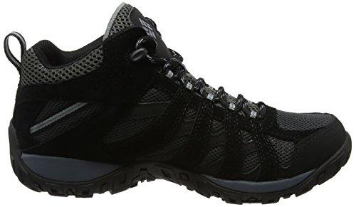 Columbia Redmond Mid Waterproof, Chaussures de Randonnée Hautes Homme Noir (Black/ Grey Ash)