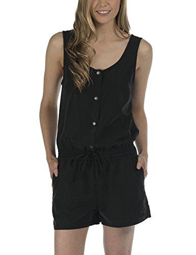 Bench Damen Relaxed Jumpsuits CHATINESS, Gr. 38 (Herstellergröße: M), Schwarz (Jet Black BK014)