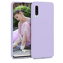 kwmobile TPU Silicone Case Compatible with Samsung Galaxy A90 (5G) - Soft Flexible Protective Phone Cover - Lavender