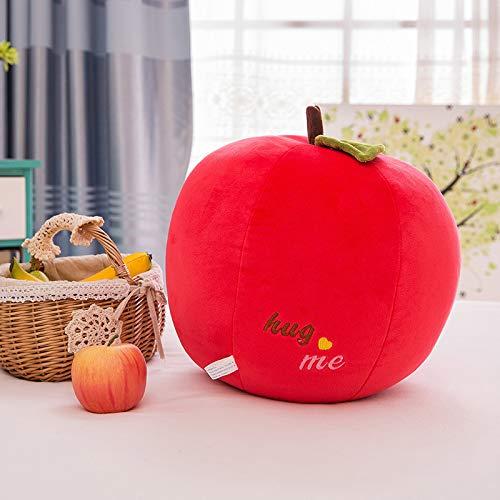 IU Desert Rose Hausbedarf Kreatives Frucht-Apfel-Kissen-Kinderzimmer-dekoratives Sofa-Auto-Kissen-Apple-Puppe (Farbe : Red Apple, Größe : 30cm)