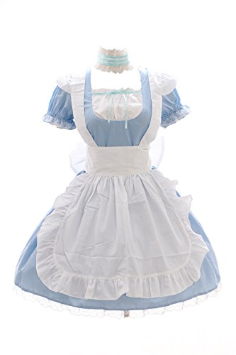 JL-576-2 blau Maid Zimmermädchen Anime Zofe Gothic Lolita Kleid Kostüm Set dress Cosplay (EUR ()