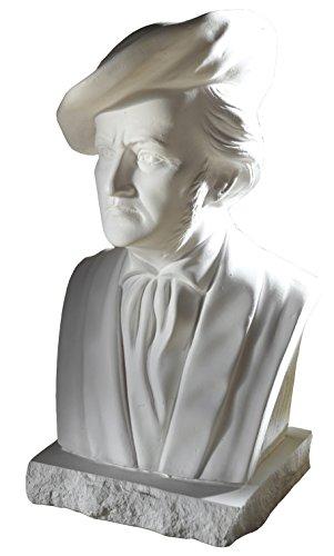 Büste Richard Wagner 22cm weißer Alabastergips