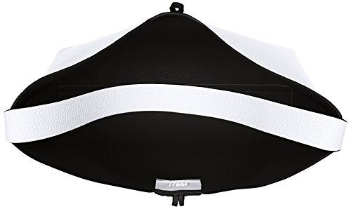 Guess Bobbi, Sacs portés épaule Multicolore (White Black)