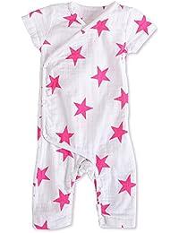 Anais Baby Einteiler Kimono Body Aden 3 bis 6 Monate, lang/ärmlig, Sternenmuster, Gr/ö/ße M, Shocking Rosa Star