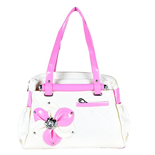 HOME ELITE DESIGNER LADIES HAND BAG , Cream- RG-HB-06
