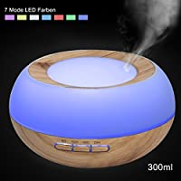 Aroma Diffuser Luftbefeuchter Humidifier,GreenClick 300ml Luftbefeuchter Humidifier LED Holzmaserung Oil Diffuser... preisvergleich bei billige-tabletten.eu