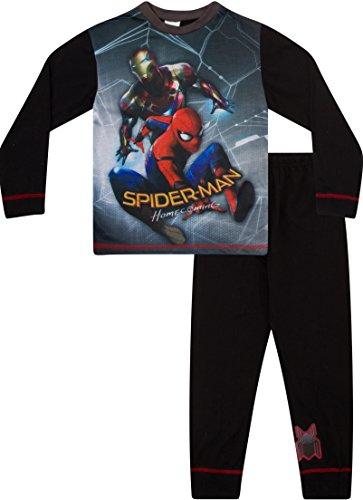 più foto a2f54 d65da Pigiama per bambino, stampa a tema film Spiderman Homecoming, con Spiderman  e Iron Man Red 5-6 Anni