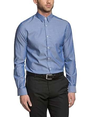 JACK & JONES PREMIUM Herren Slim Fit Businesshemd JIMMY SHIRT L/S, Gr. Small (Herstellergröße: 48), Blau (Navy Blazer)