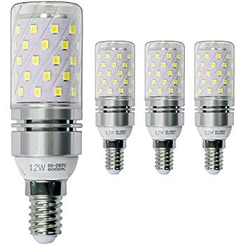 Hzsane E14 LED maíz bombilla 12W, 6000K Blanco Frío LED Bombillas, 100W Incandescente Bombillas Equivalentes, Candelabro E14 SES Bombillas, 1200lm, ...