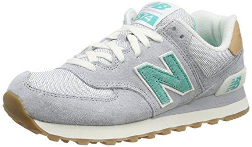 new-balancewl574v1-scarpe-da-ginnastica-basse-donna-grigio-grau-grey-green-39-eu
