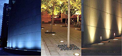 Noble 1.2w LED Outdoor Inground Burial, Can be Used as a Fountain Light, Low Consumption, High Brightness, Very low heat generating, No radiation, Safe, Stable and Reliable Suitable for Illumination and Beautification of Showrooms, Hotels, Swimming pool Lighting, Garden Lighting, Fountain Lighting, Outdoor Lighting, Walkover Light