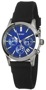 Reloj DKNY NY8123 de cuarzo para mujer con correa de caucho, color negro de Dkny