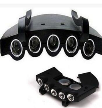 Preisvergleich Produktbild SimpleLife Bright 5 LED unter der Schirmmütze / Hut Licht KOPFLEUCHTE mit Batterien Angeln