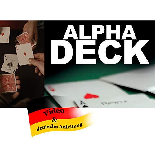 Richard Sanders Alpha Deck (Neuauflage), EIN Do as I do Zaubertrick der Extraklasse inkl. ausführlicher Deutscher Anleitung und ENGL. Video-Instruktionen, Zaubertricks und Zauberartikel