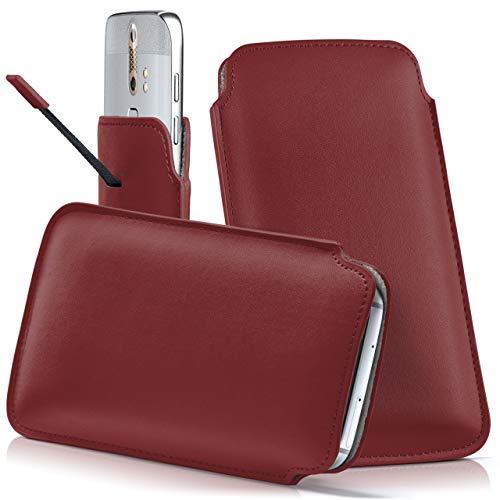 moex ZTE Nubia Z11 Mini S | Hülle Rot Sleeve Slide Cover Ultra-Slim Schutzhülle Dünn Handyhülle für ZTE Nubia Z11 Mini S Case Full Body Handytasche Kunst-Leder Tasche