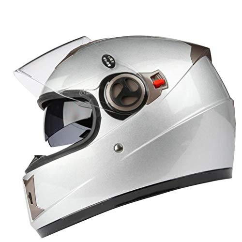 Adulto flip up casco integrale del motociclo doppio Lense antifog antiurto moto Caschi Motocross tappi di sicurezza dimensione universale
