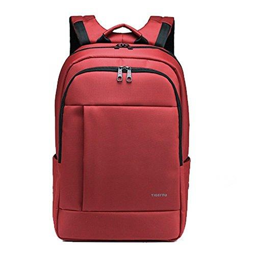 Tigernu unico impermeabile resistente anti-furto Zip'Laptop zaino scuola Business borse-rosso