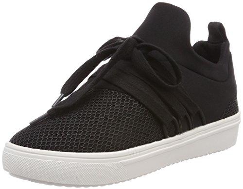 Steve Madden Damen Lancer Sneaker, Schwarz (Black), 37 EU (Schuhe Slip On Steve Madden)