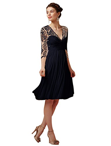 Robe cocktail longue femme ronde
