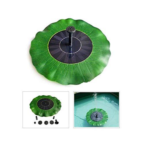 Jamicy® Solar Springbrunnen, Solar Teichpumpe mit 1,5 W Solar Panel Schwimmende Fontäne Wasserpumpe mit 4 Düsen für Gartenteich, Vogel-Bad, Fisch-Teich, Kleinen Teich (Lotusblatt - 28 x 28cm) -