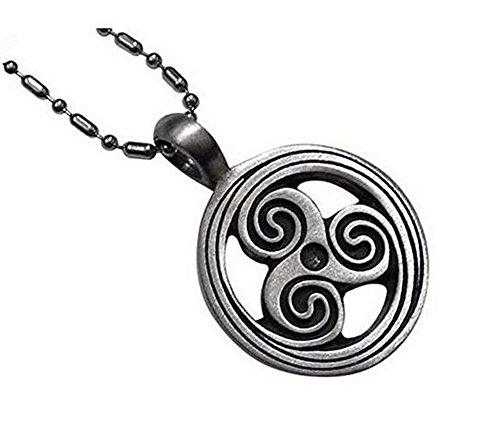 Collar medallón colgante símbolo Triskel espiral, nouveauté.