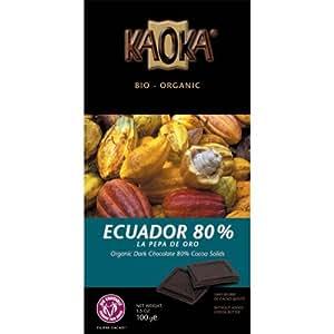 Tablette Chocolat Bio Kaoka Noir 80%