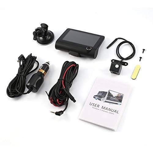 4-inch HD 1080 P 3 Objektiv Auto DVR Bewegungserkennung & Parken Monitor Dash Cam Fahrzeug Video Recorder mit Rückfahrkamera