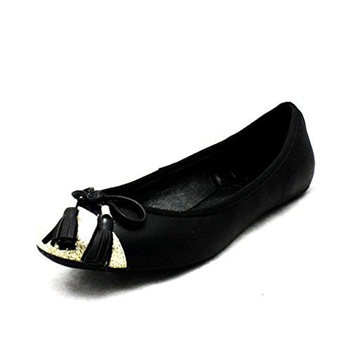 SendIt4Me , Ballerines pour femme Noir noir Noir / or
