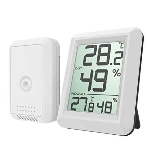 Hygrometer Mini Digital Thermometer LED Indoor Hygrometer Wireless Thermometer 10% - 99% Hygrometer LCD Digital Temperatur Hygrometer Geeignet für Home Office (Weiß) ()