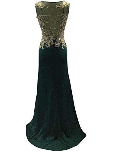 Changjie Damen Meerjungfrau Lang Abendkleider Abschlussballkleid Parteikleid Frauen Kleider Gr¨¹N