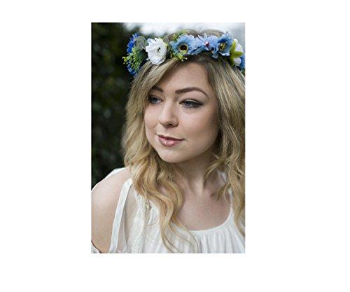 Bleu Blanc Vert Rose Fleur Couronne cheveux Bandeau Couronne Boho Vintage mariée 47 * * * * * * * * exclusivement vendu par – Beauté * * * * * * * *
