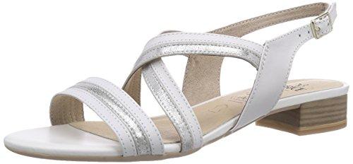 Caprice 28118, Sandali aperti donna Bianco (Weiß (WHITE COMB/197))
