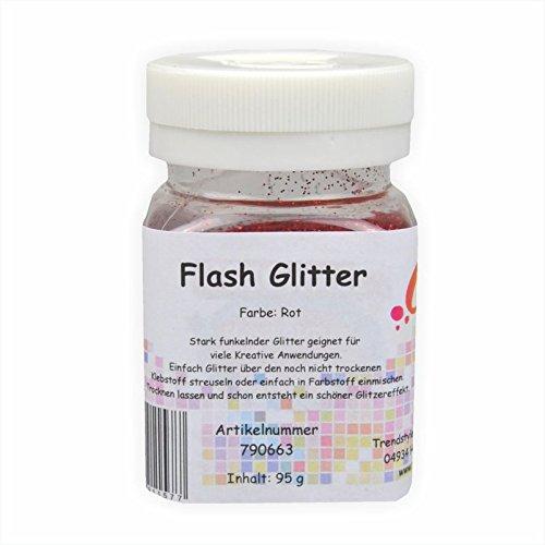 Creleo 790663Flash Glitter, 95g, color rojo
