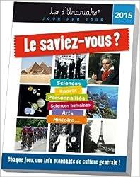 ALMANIAK LE SAVIEZ-VOUS ? 2015 de Jean-Serge Lubeck ( 8 octobre 2014 )