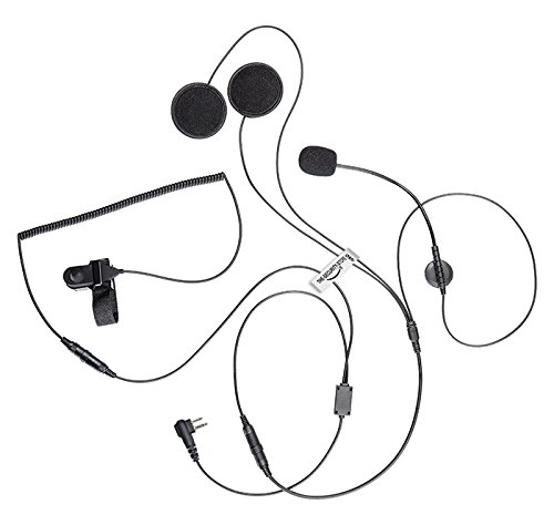 Motorradhelm-Ohrhörer für HYTERA Funkgerät (2-Polig) TC300, TC500, TC518, TC600, TC610, TC620, TC700, TC900, TC1600 -