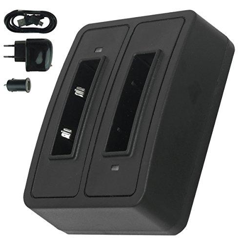 Dual-Ladegerät (Netz+Kfz+USB) BA-90 für Sennheiser Audioport A1, E90, E180 (Set 180), HDE 1030 / HDI 91, 92... / RI 200, RI 300... - s. Liste